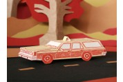 station wagon 3D letterpress kit card