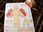 little camper 3D letterpress kit card
